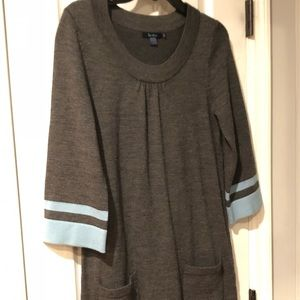 Boden Gray/blue sweater dress